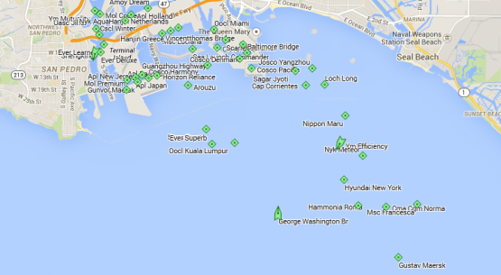 11/13 — 12 vessels waiting outside the LA port
