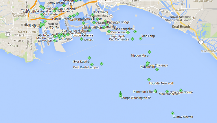 11/13 — 12 vessels waiting outside the LA port
